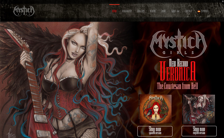 Sitio web Mystica Girls
