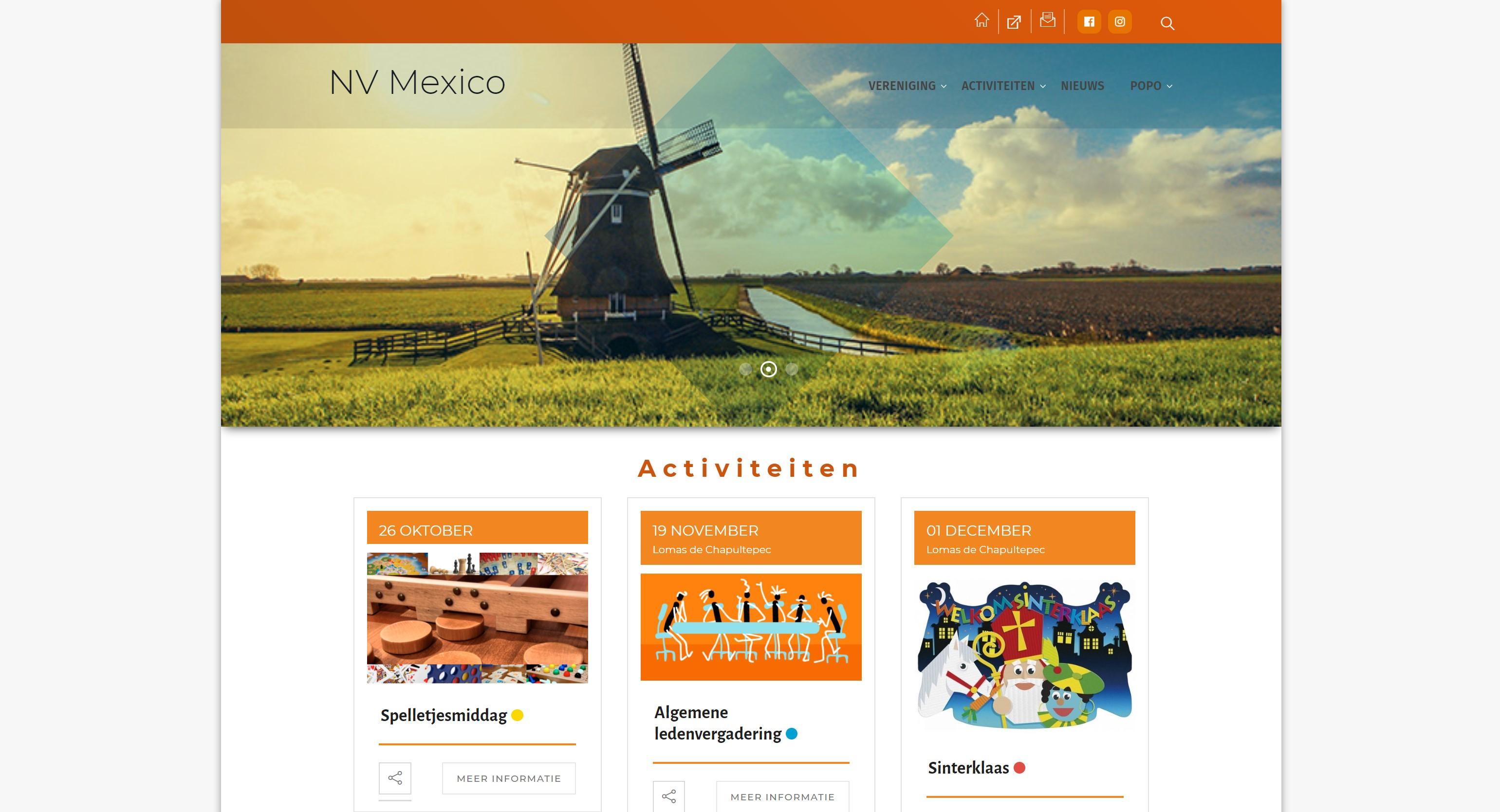 Sitio web NV México
