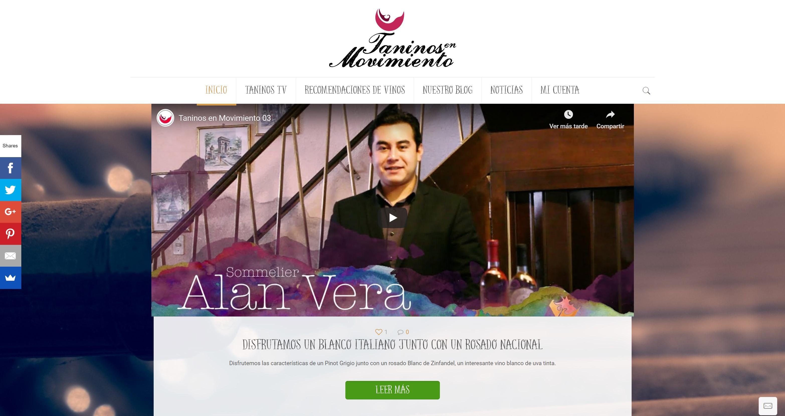 Sitio web Taninos en Movimiento